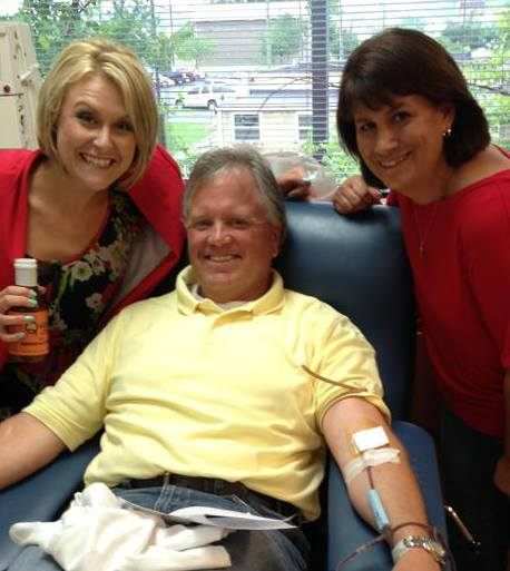 My parents with Whitney Kent, an anchor for Knoxville's WVLT station. Mom and Dad regularly speak on behalf of Medic about the importance of giving blood.